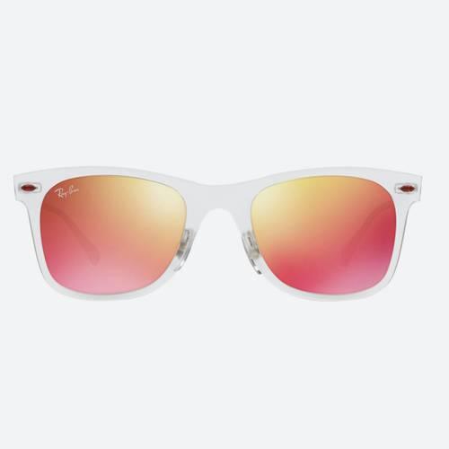 Gafas sol transparente mate-rojo 6-6Q