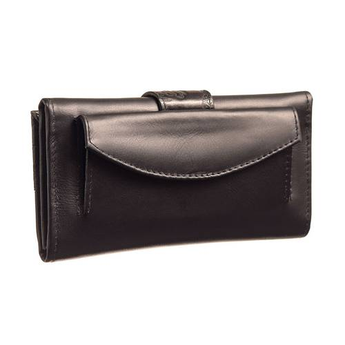Billetera para Mujer en cuero JB 01 negra