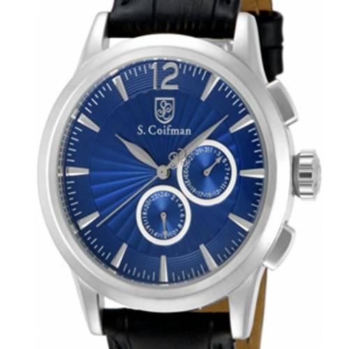 Reloj análogo azul-negro 0262