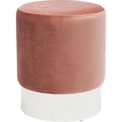 Taburete Cherry rosa plata  Ø35cm