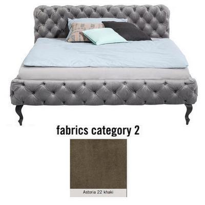 Cama Desire, tela 2 - Astoria 22 khaki, (100x157x228cms), 140x200cm (no incluye colchón)