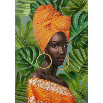 Cuadro lienzo African Lady 70x100cm