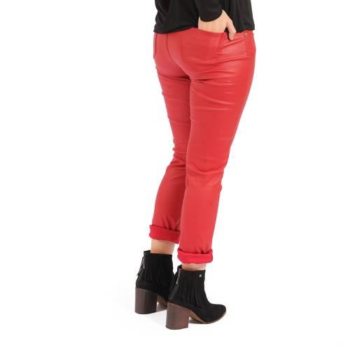 Pantalón Ariana Rosé Pistol Para Mujer - Rojo