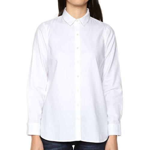 Camisa Natalie Color Siete Para Mujer  - Blanco