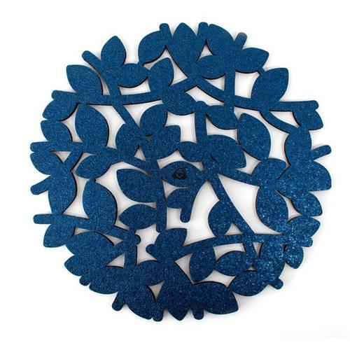 Portavaso para Mesa, Doble Faz Azul Mate Mod Nido 10cm
