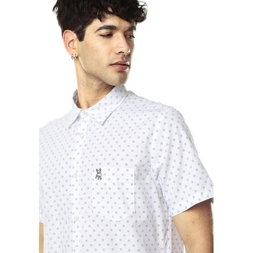 Camisa Manga Corta Jack Supplies para Hombre-Blanco