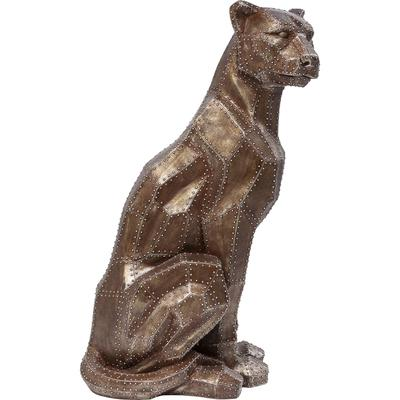 Figura decorativa Sitting Cat Rivet cobre