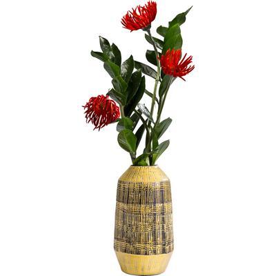 Vasija decorativa Muse Stripes amarillo 29cm