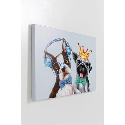 Cuadro Dog Music Lover&King 70x100