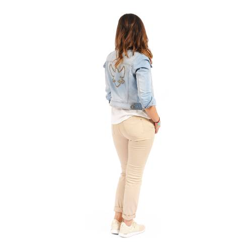 Jean Malibú Rosé Pistol Para Mujer  - Blanco