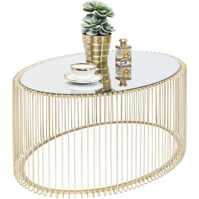 Mesa centro Wire Uno Brass 60x90cm