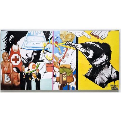 Cuadro Graffiti Emergency 50x100cm