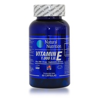 Natural Nutrition Vitamina E 1000 IU Plus Zinc x 60 Capsulas