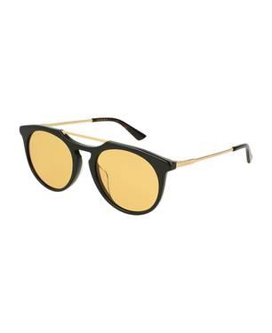 Gafas de sol negro-oro-amarillo -002