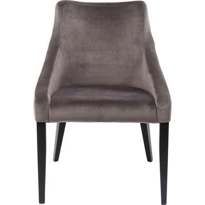 Silla Black Mode Velvet gris