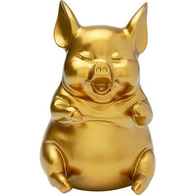 Alcancía Happy Pig Sitting oro