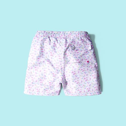 Pantaloneta Color Siete Para Hombre - Blanco