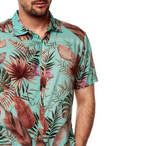 Camisa Manga Corta La Jolla Rosé Pistol Para Hombre - Azul