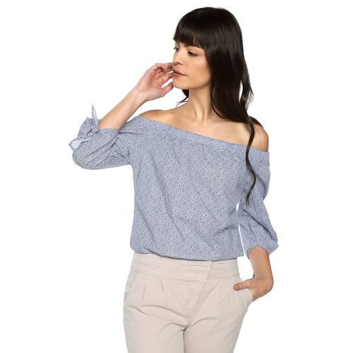 Blusa Olivia Color Siete Para Mujer  - Azul
