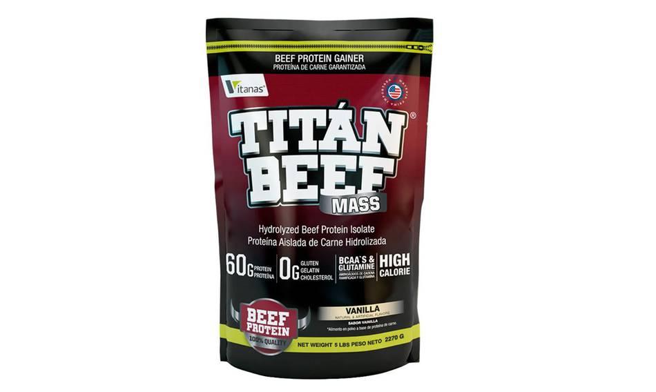 Proteína TITAN BEEF MASS X 5 libras vainilla