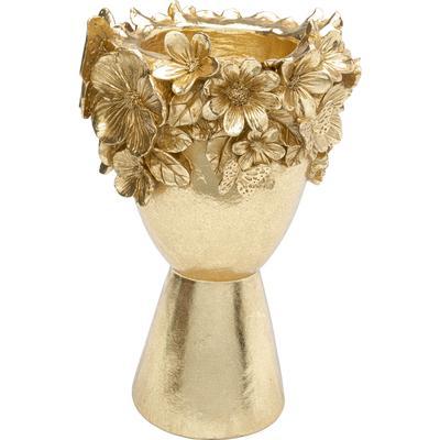 Vasija deco Flowercrown oro 20cm