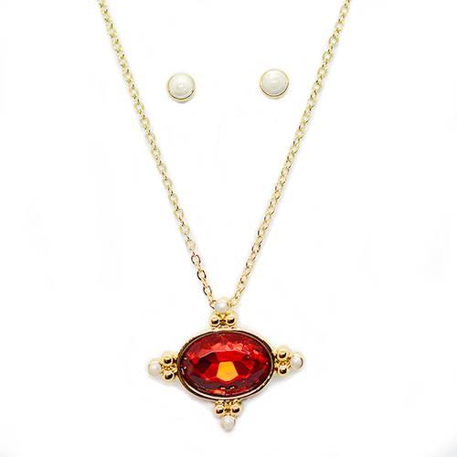 Collar + Aretes 080956 Oro - Tessor