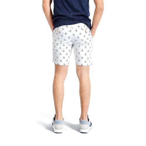 Short Color Siete para Hombre - Blanco