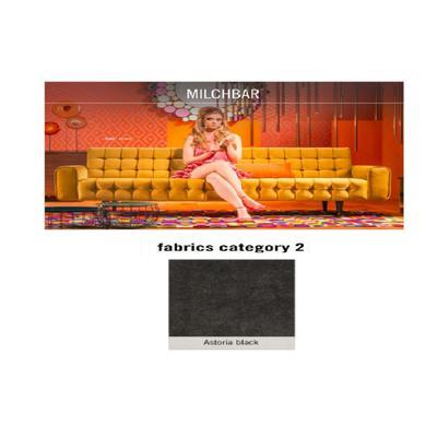 Sofá, 3 puestos, Milchbar, tela 2 - Astoria Black (230x72x80cms)