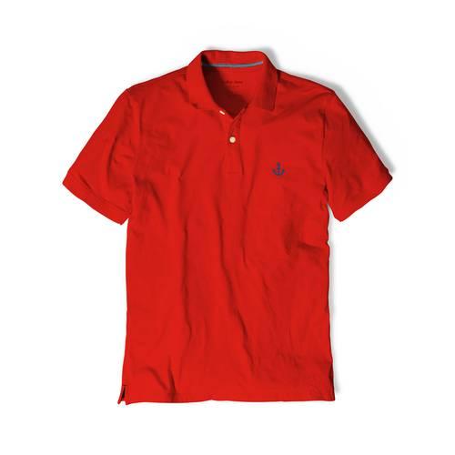 Polo Color Siete Para Hombre Rojo - Ancla