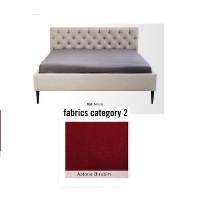 Cama Nova,  tela 2 - Astoria 8 rubin,   (85x180x215cms), 160x200cm (no incluye colchón)