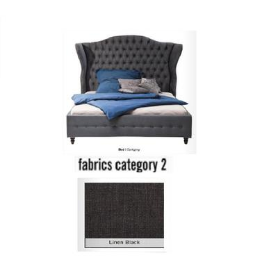 Cama City Spirit, tela 2 - Linen Black, (120x156x260cms), 140x200cm (no incluye colchón)