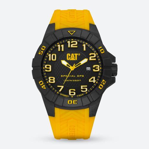 Reloj Date Negro-Amarillo