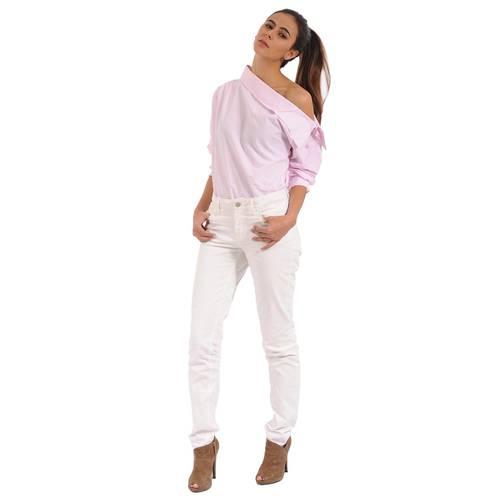 Pantalón Color Siete Para Mujer - Blanco