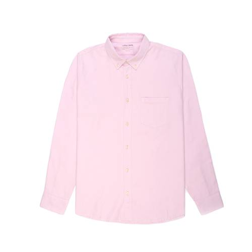 Camisa Oxford Manga Larga - Rosado