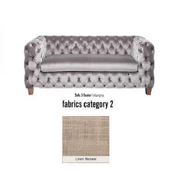 Sofá, 3 puestos, My Desire, tela 2 - Linen Natural  (245x68x100cms)