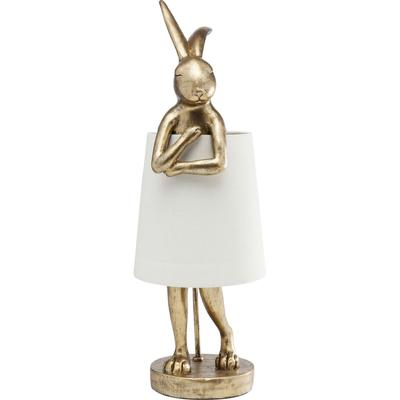 Lámpara mesa Animal Rabbit oro blanco 68cm
