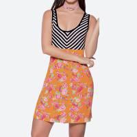 Vestido Corto 62079 Multicolor