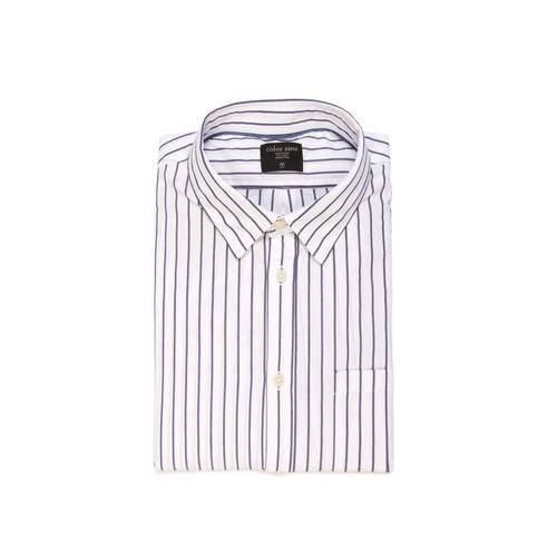 Camisa Murray Manga Larga Color Siete para Hombre - Blanco