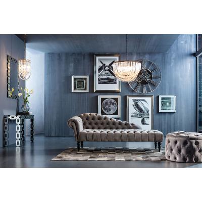 Chaise longue Desire Velvet gris plata