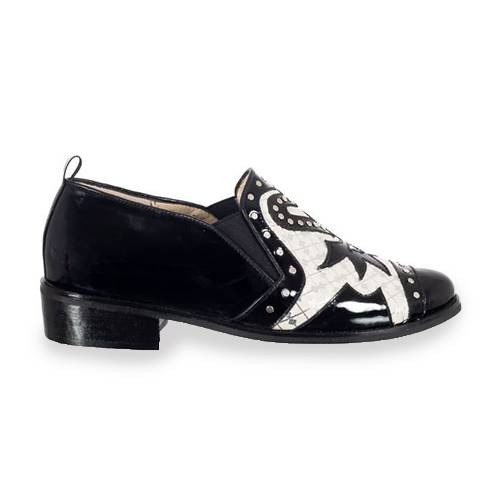 Zapato Oxford Mocasín En Cuero Negro