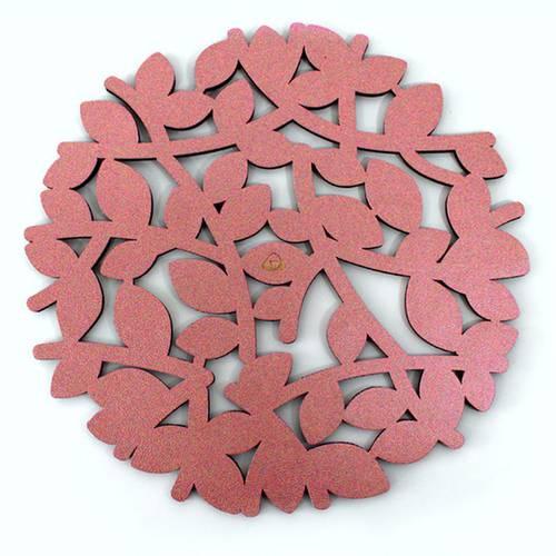 Individual para Mesa, Doble Faz Oro Rosa Mod Flower 32cm