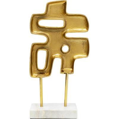 Objeto decorativo Abstracto Puzzle oro