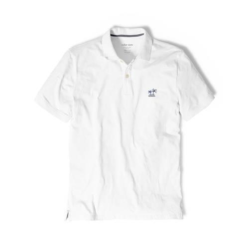 Polo Color Siete Para Hombre Blanco - Isla