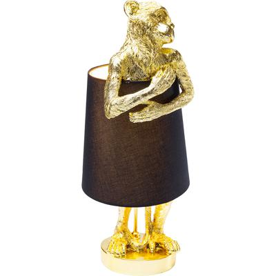 Lámpara mesa Animal Monkey oro negro