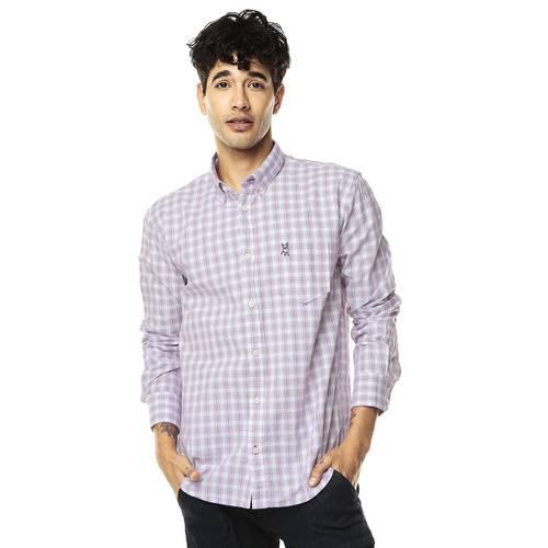 Camisa Manga Larga Jack Supplies Para Hombre - Rojo