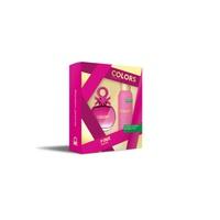 Estuche Benetton Colors Pink Edt 80 Ml + Deo 150Ml