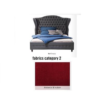 Cama City Spirit, tela 2 - Astoria 8 rubin, (120x156x260cms), 200x200cm (no incluye colchón)