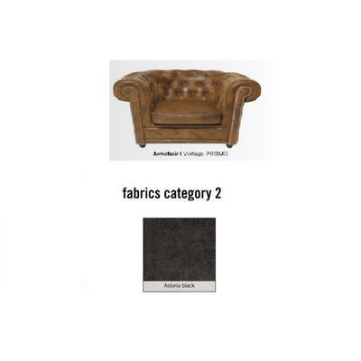 Poltrona Cambridge, tela 2 - Astoria Black (115x76x92cms)