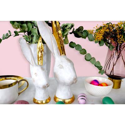 Objeto decorativo Bunny oro 30cm