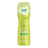 Ban Roll-On Antiperspirant Deodorant Unscented 103 Ml
